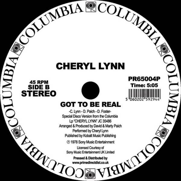 Cheryl Lynn - You Saved My Day / Got to Be Real - Vinyl at