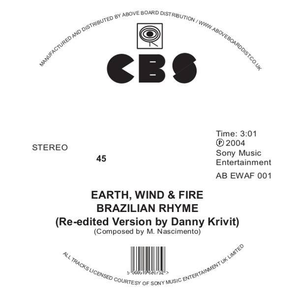 Earth, Wind & Fire - Brazilian Rhyme / Runnin' (Danny Krivit